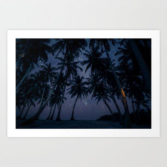 Find Me Under The Palms Art Print