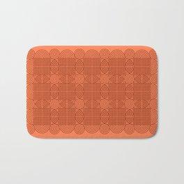 Op Art 18 - Coral Bath Mat
