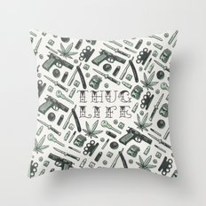 Thug Life Throw Pillow