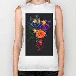 Colorful Floral Bouquet Biker Tank