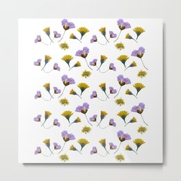 Pressed flowers Metal Print