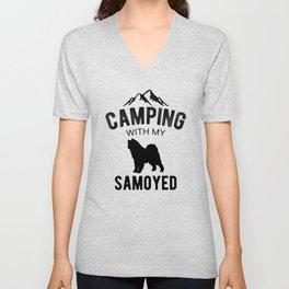 Camping With My Samoyed Dog Lover Puppy Unisex V-Neck