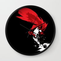 thor Wall Clocks featuring Thor by Irene Flores