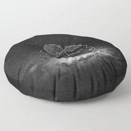 beautifully unfinished b&w. Floor Pillow