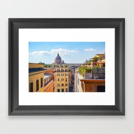 ROME the Streets:  Rooftop View of Rome, Italy Framed Art Print