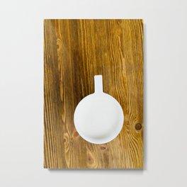 hot cup of milk Metal Print