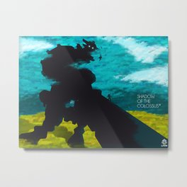 Shadow Of The Colossus Minimalist Cloudy Poster Metal Print