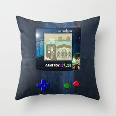 Retro Tardis Doctor Who Nintendo Gameboy iPhone 4 4s 5 5c, ipod, ipad, tshirt, mugs and pillow case Throw Pillow