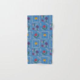 Heart of Silver – Blue Bell – Scandinavian Folk Art Hand & Bath Towel