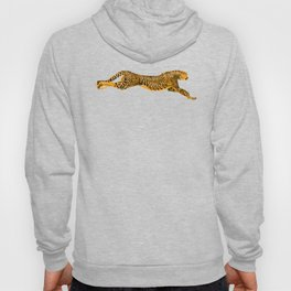 Running Cheetah Cat Hoody