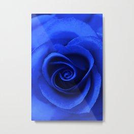 Indigo Rose Metal Print