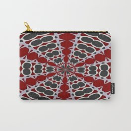 Red Black White Pattern Carry-All Pouch