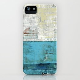 Fairbanks Abstract Light Blue White iPhone Case