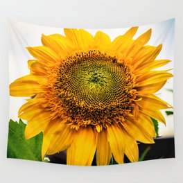 Sunflower Greeting  Wall Tapestry