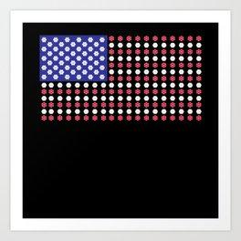 American Flag   Funny Gambling Gift Art Print