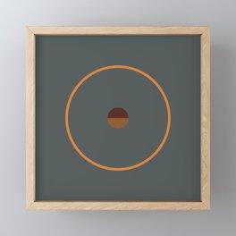 catch    anthracite & ocher Framed Mini Art Print