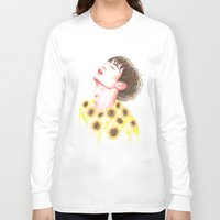 shinee Long Sleeve T-shirts featuring Sunflowers by sophillustration