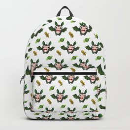 Halloween Bats On White Backpack