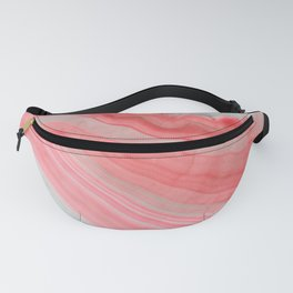 Coral Pink Agate Fanny Pack