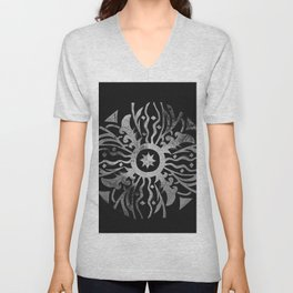 Sundial and Astronomy Style Unisex V-Neck