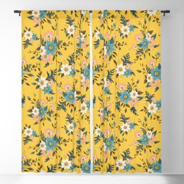 Flowers Blackout Curtain
