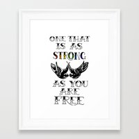 larry stylinson Framed Art Prints featuring One that's strong as you are free (Larry Stylinson) by Arabella