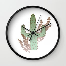 Lone Cactus Wall Clock