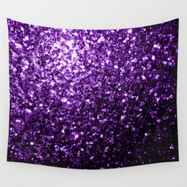 Beautiful Dark Purple glitter sparkles Wall Tapestry