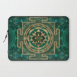 Sri Yantra  / Sri Chakra Malachite and gold Laptop Sleeve