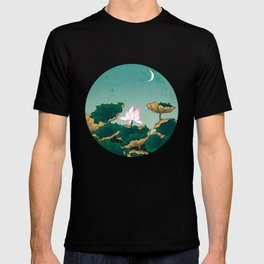 Minhwa: Lotus Pond at Night C Type T-shirt