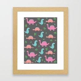 Happy Dinosaurs Framed Art Print