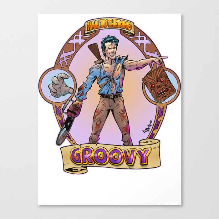 Ash from Evil Dead Canvas Print