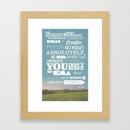 Creative Reassurance  Framed Art Print