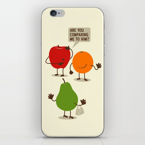 Like Apples and Oranges iPhone & iPod Skin