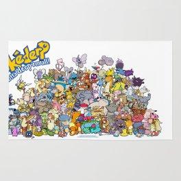 Pokémon - Gotta derp 'em all! - Group photo Rug
