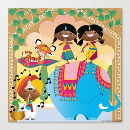 India Party Canvas Print