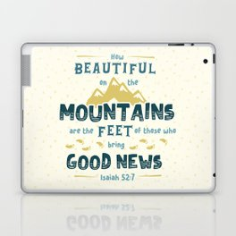 """""""How Beautiful on the Mountains"""" Hand-Lettered Bible Verse Laptop & iPad Skin"""