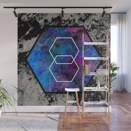 TEXtured HEX - Abstract, geometric, textured artwork Wall Mural