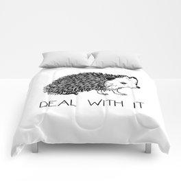 Deal With It Hedgehog Comforters