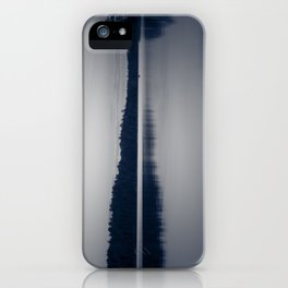 Black and White Sunset on Little Loon iPhone Case