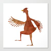chicken Canvas Prints featuring Chicken by Jade Young Illustrations