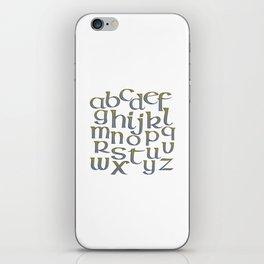 Celtic Knotwork Alphabet - A-Z - Abecedary iPhone Skin