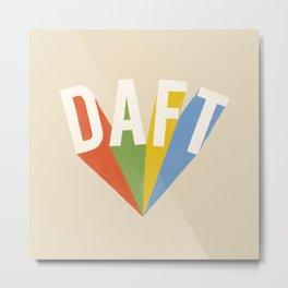 Letters : Daft Metal Print