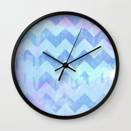 Watercolour Chevron {Spring 2015 Limited Edition} No. 2 Wall Clock