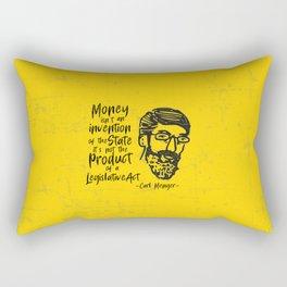 Carl Menger Illustration Rectangular Pillow