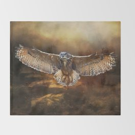 Owl Flight Throw Blanket