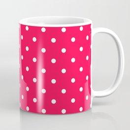 Fuchsia Polka Dots Coffee Mug