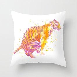 Sh*tting Tiger Throw Pillow