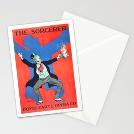 Vintage Art Deco pre 1920's Theatre Play Poster Style Sorcerer Gentleman Stationery Cards