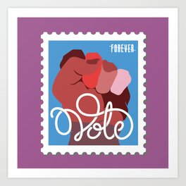 VOTE stamp Art Print